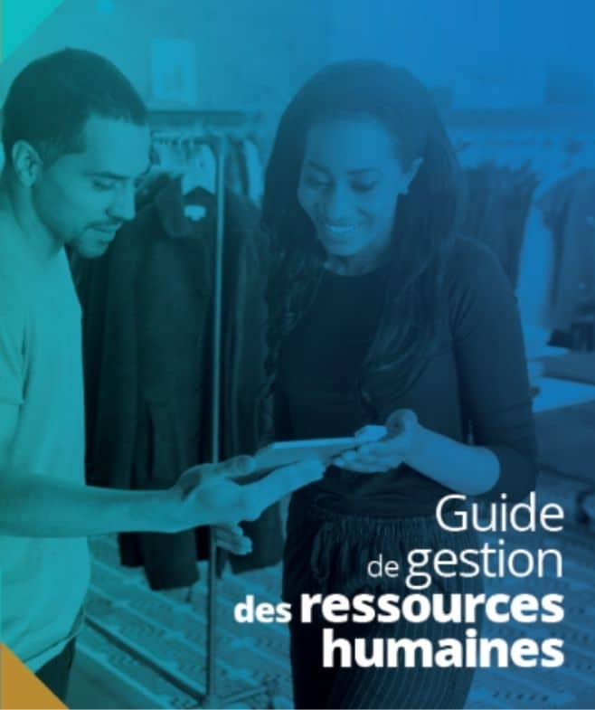 Cover of the human ressources guide for retailers